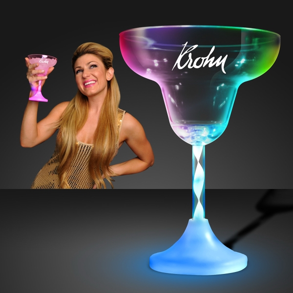 Lighted Margarita Glass