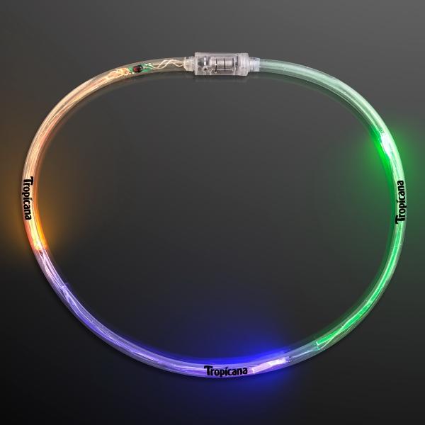 Flashing Mardi Gras tube necklace