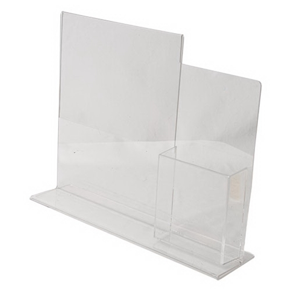 Promotional W X H Clear Acrylic Combo Table Tent Ad Frame - Acrylic table tents