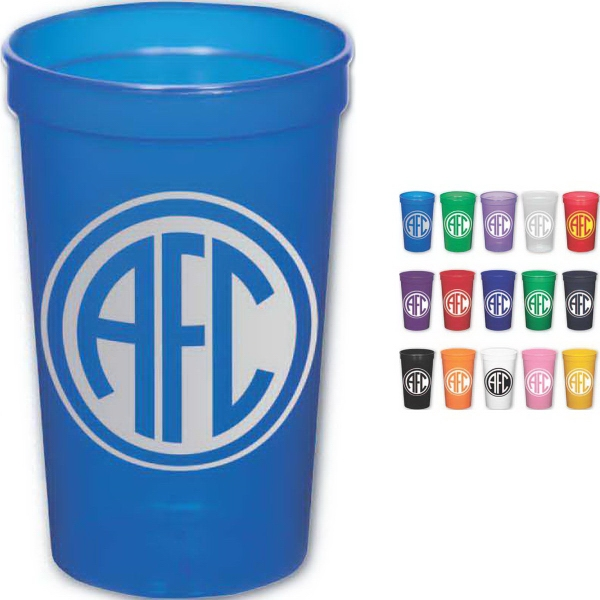 Brand Gear (TM) USA 22 Oz Stadium Cup (TM) - 22 oz. stadium cup made in the USA.