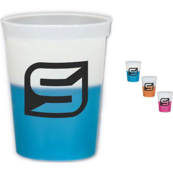 Brand Gear (TM) USA 16 Oz Color Changing Cup (TM) - 16 oz. stadium cup that changes colors with cold liquids.