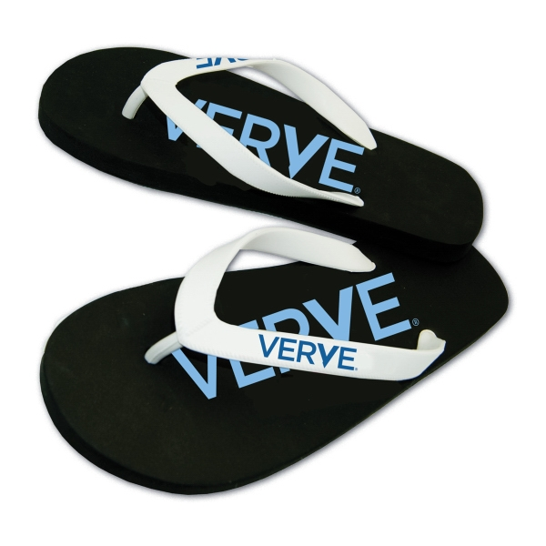 Brand Gear (TM) Surf's Up (TM) Flip Flop - Flip flop with 15mm EVA foam sole, all over imprint on insole.