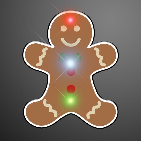 Flashing Gingerbread Man Blinkies
