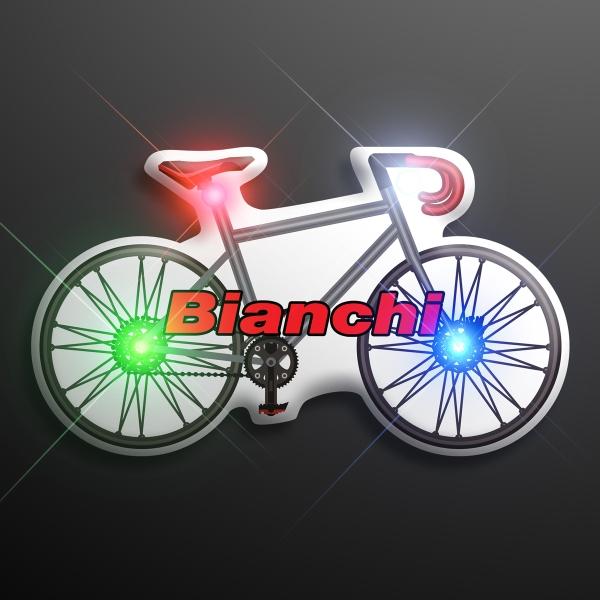 Imprinted Light Up Flashing Bicycle Pins