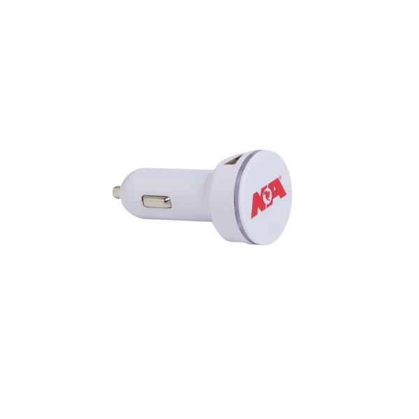 ROUND DUAL LIGHT UP CAR CHARGER