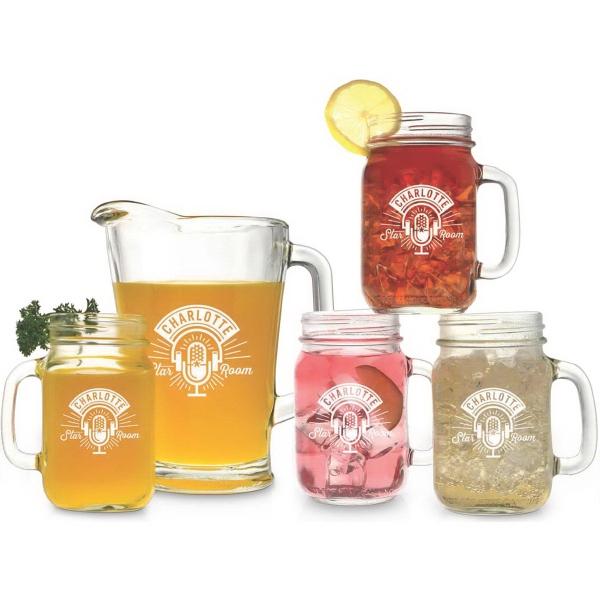 Pitcher and Handled Jar Set - Pitcher and handled jar set.