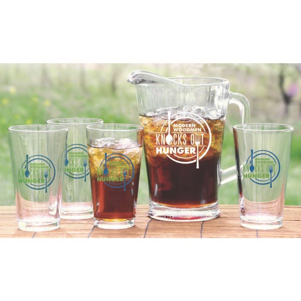 Pitcher and pint set