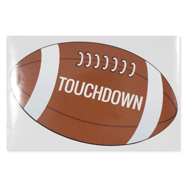 "Football 6"" x 4"" Permanent Adhesive Vinyl Decal"