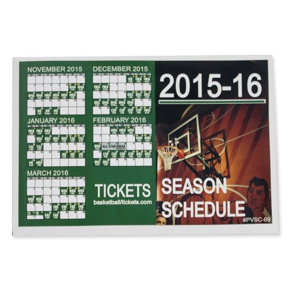 "Sports Calendar 6"" x 9"" Permanent Adhesive Vinyl Decal"