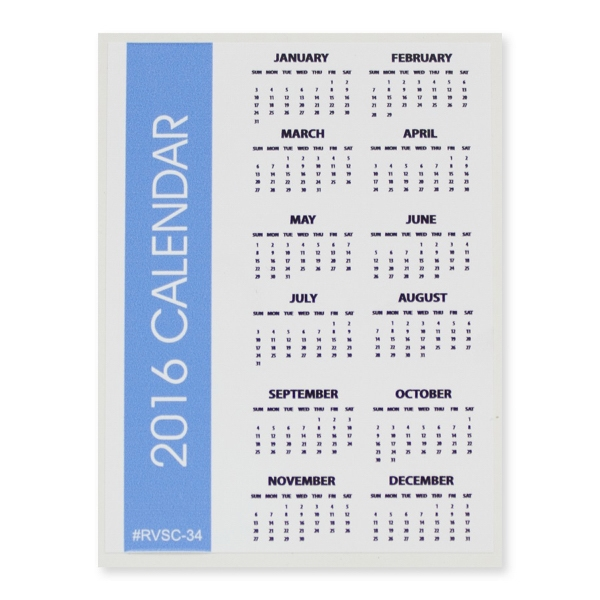 "Sports Calendar 3"" x 4"" Removable Adhesive Vinyl Decal"