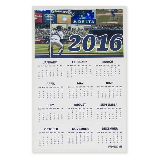 "Sports Calendar 5"" x 8"" Removable Adhesive Vinyl Decal"