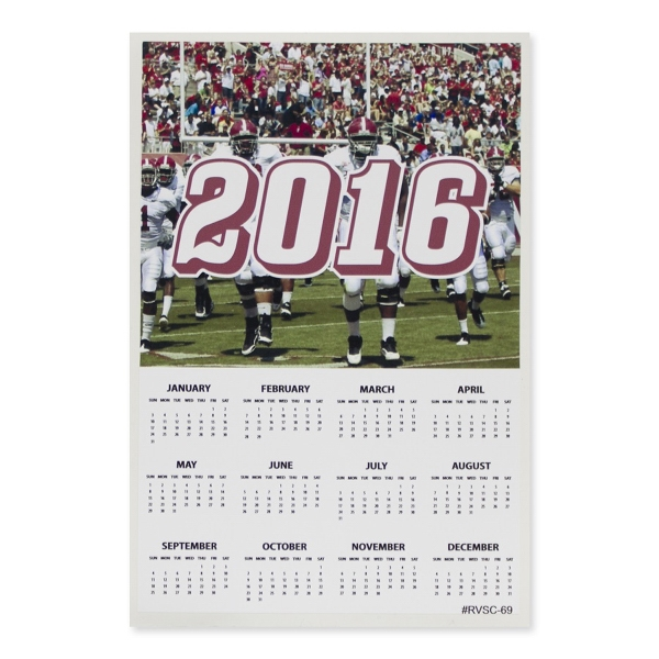 "Sports Calendar 6"" x 9""Removable Adhesive Vinyl Decal"