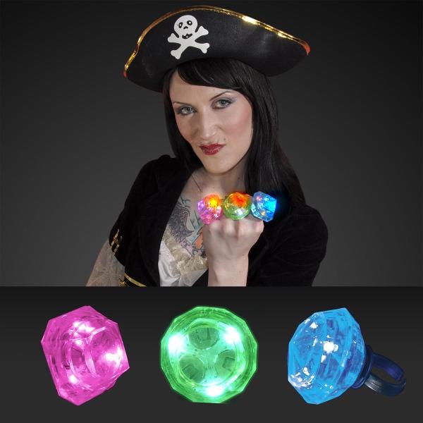 Huge gem blinking ring, assorted colors
