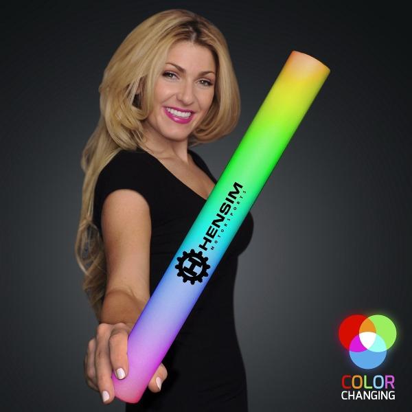 Imprinted Multicolor Light-Up Foam Sticks