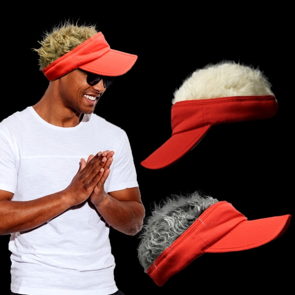 Red Wacky Costume Visor