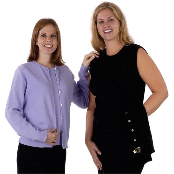 Crewneck Cardigan / Sleeveless Shell Twinset, Cotton