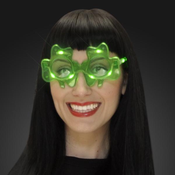 Light Up Shamrock Sunglasses