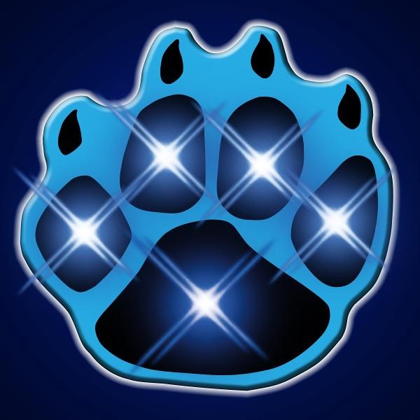 Blue Flashing Paw Print Body Lights