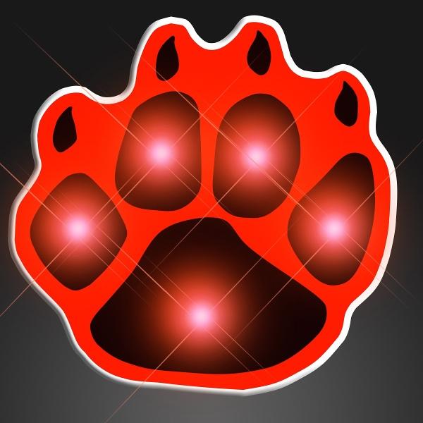 Red Flashing Paw Print Body Lights