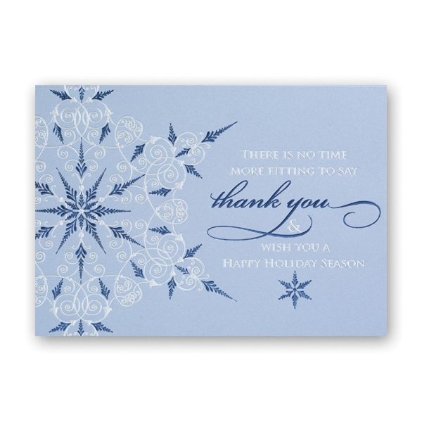 Business Thank You Snowflake Greeting Card