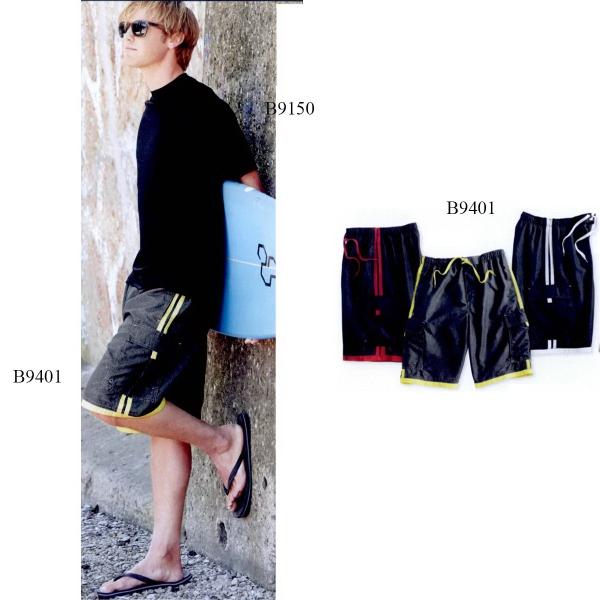 Burnside (R) Swim Striped Board Shorts