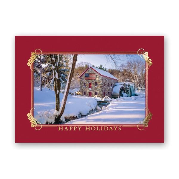 American Winter Greeting Card
