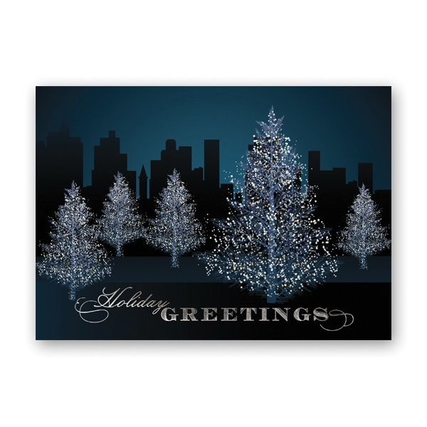 Shimmered Trees Greeting Card