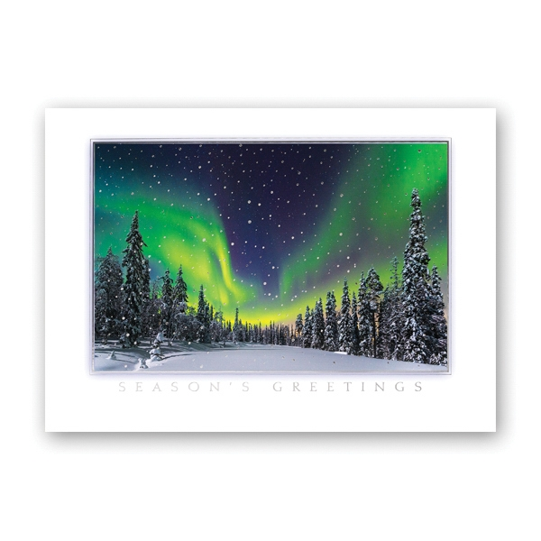 Northern Light Show Greeting Card