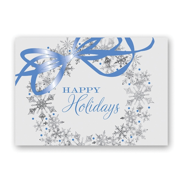 Wreath of Snowflakes Greeting Card