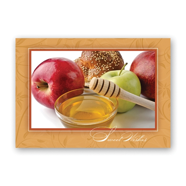 Honey and Apples Greeting Card