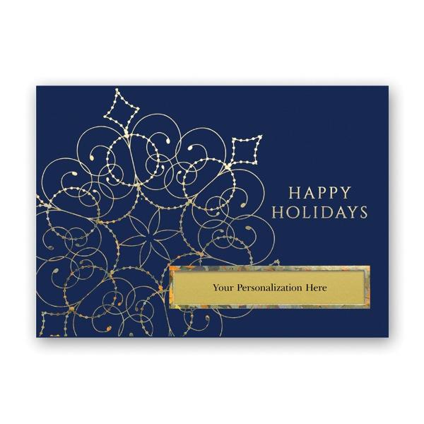Decorated Snowflake Greeting Card