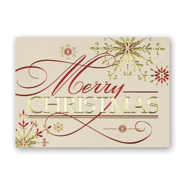 Shining Christmas Greeting Card