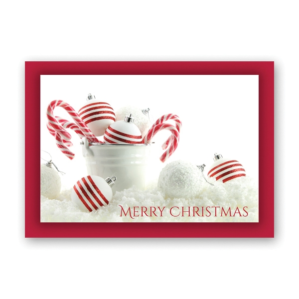 Peppermint Christmas Greeting Card
