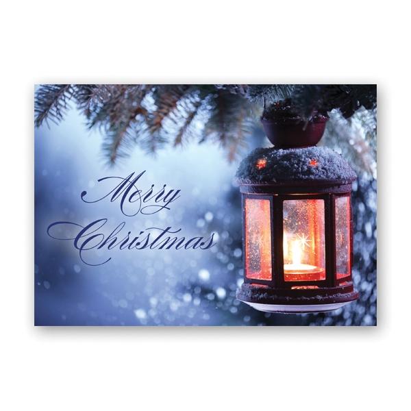 Christmas Lantern Economy Card