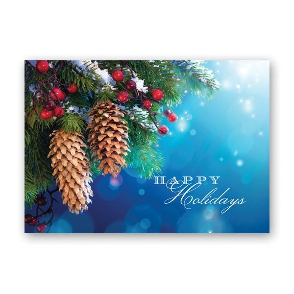 Winter Greenery Economy Card