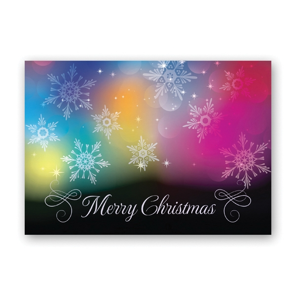 Colorful Christmas Economy Card