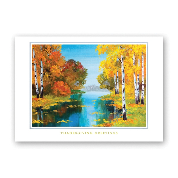 Colorful Landscape Thanksgiving Card