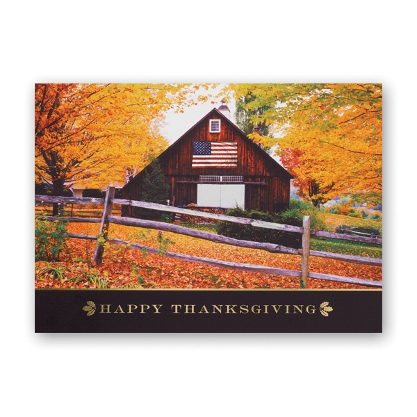 Stately Scene Thanksgiving Card