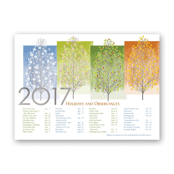 Any Time of Year Calendar Card