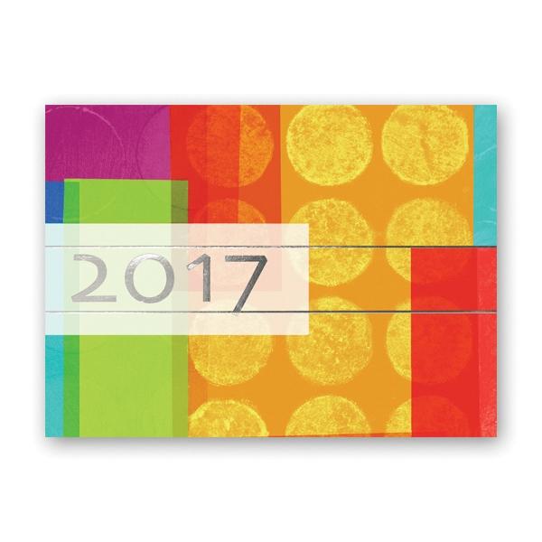 Contemporary Color Calendar Card
