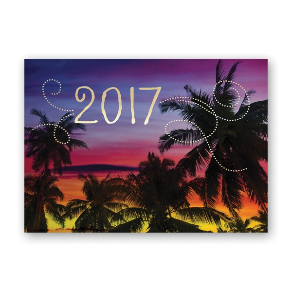 Tropical Evening Calendar Card