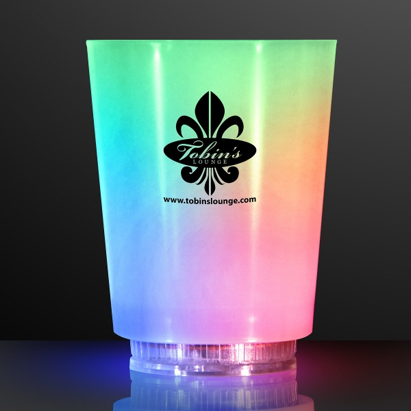 Light Up Color Change Frosted Short Glass