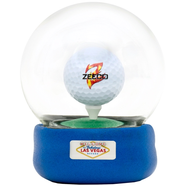 Golf Globe Game with Dome Label on Base