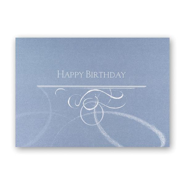 Swirls of Happiness Birthday Card