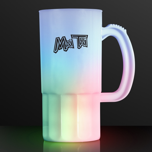 Light-up tall beer mug