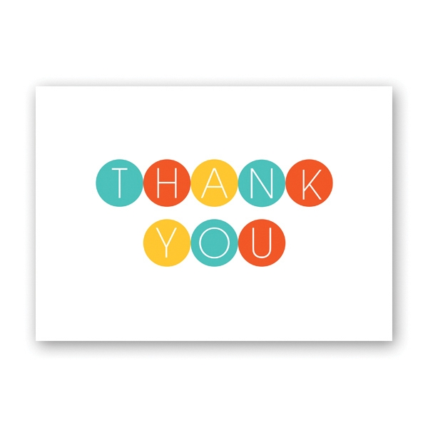 Color Dots Thank You Card