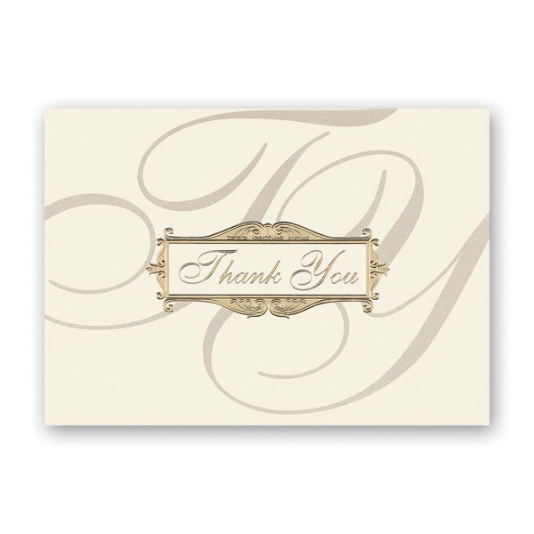 Scripted Thank You Greeting Card