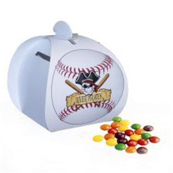 Baseball Paper Bank with Mini Bag of Skittles