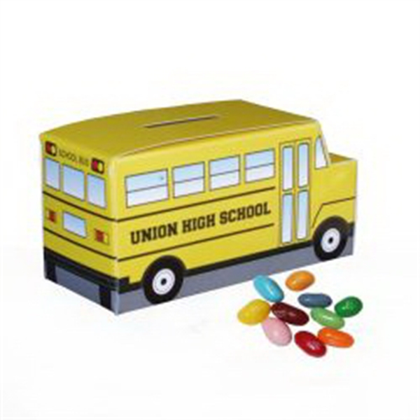 School Bus Paper Bank w/Mini Bag of Jelly Bellies