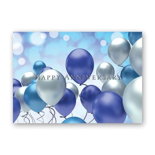 Celebration Balloons Anniversary Card
